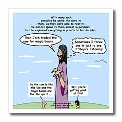 Mark 04-26-34 Jesus and the Beanstalk - Teaching Ad Lib Iron on Heat Transfer
