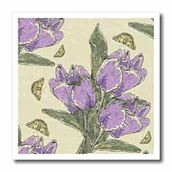 More Purple Flowers Iron on Heat Transfer