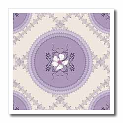White Flowers on Lilac Iron on Heat Transfer