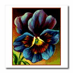Purple Pansy Iron on Heat Transfer