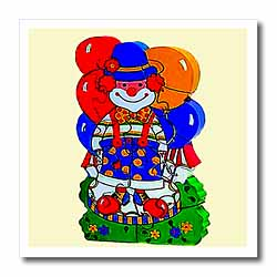 Circus Clown Iron on Heat Transfer