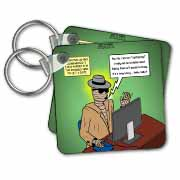 Invisible Man Internet Dating and Web Catfishing Key Chain