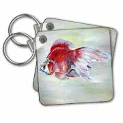 Fish Ryukin Goldfish Key Chain