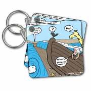Noah Meets Moses  Key Chain
