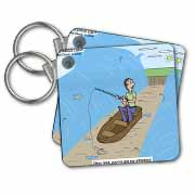 Fishing with God Key Chain