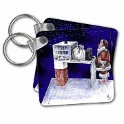 VAL - Santa Security Checkpoint Key Chain