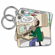 Pressures of Being a Cartoonist Key Chain