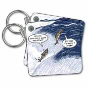 Salmon Spawning Advice Key Chain