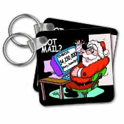 Ira Monroe about Santas E-Mail for Christmas Key Chain