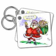 VAL Cartoon about Gift Card Giving for Christmas Key Chain