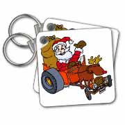 Nelson Deweys Reindeer Powered Santa Dragster Sleigh Key Chain