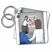 Eye Chart Word Search - Visit to the Eye Doctor Key Chain