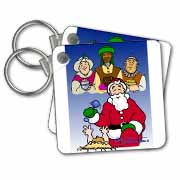 Larry Miller - Tribute to the Baby Jesus by the 3 Wisemen and Santa Key Chain
