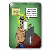 Invisible Man Internet Dating and Web Catfishing Light Switch Cover