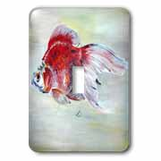 Fish Ryukin Goldfish Light Switch Cover