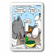 Isaiah 65 17 25 Cheese Tofu Bugers in Paradise Bible earth heaven paradise wolf sheep lamb lion Light Switch Cover
