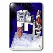 VAL - Santa Security Checkpoint Light Switch Cover