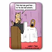 Funeral For A Cat with apologies to elton john Light Switch Cover