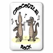 Out to Lunch Cartoon Crocodile Rock Light Switch Cover