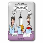 Mark 06-14-29 How To Get a Head in Life - Herodias and the Bad Menu Order Light Switch Cover