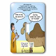 Mark 10-17-31 Stupid Animal Tricks - Camel through the Eye of a Needle Parable Light Switch Cover