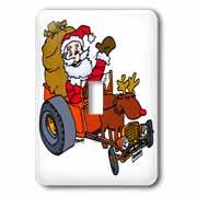 Nelson Deweys Reindeer Powered Santa Dragster Sleigh Light Switch Cover