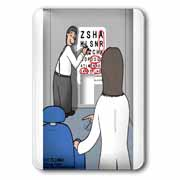 Eye Chart Word Search - Visit to the Eye Doctor Light Switch Cover