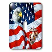 US Marines Light Switch Cover