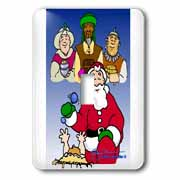 Larry Miller - Tribute to the Baby Jesus by the 3 Wisemen and Santa Light Switch Cover