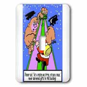 Ira Monroe - Santa Finds Some Buildings are Stirring More than a Mouse Light Switch Cover