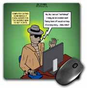 Invisible Man Internet Dating and Web Catfishing Mouse Pad