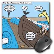 Noah Meets Moses  Mouse Pad