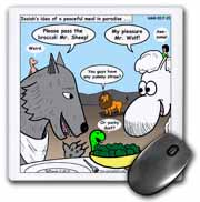 Isaiah 65 17 25 Cheese Tofu Bugers in Paradise Bible earth heaven paradise wolf sheep lamb lion Mouse Pad