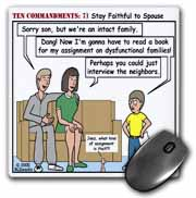 Ten Commandments 7 Stay Faithful to Spouse Mouse Pad