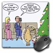 Bad Christmas Present Idea - Funniest Home Videos Mouse Pad