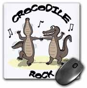 Out to Lunch Cartoon Crocodile Rock Mouse Pad