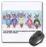 Kevin Edler Cartoon about Rudolphs Troubles for Christmas Mouse Pad