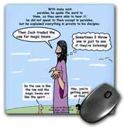 Mark 04-26-34 Jesus and the Beanstalk - Teaching Ad Lib Mouse Pad