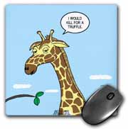 Giraffe Foraging Foibles - wanting a truffle Mouse Pad