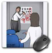 Eye Chart Word Search - Visit to the Eye Doctor Mouse Pad