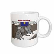 Rich Diesslin Mice Contemplate the Baby Jesus at Christmas Mug