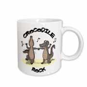 Out to Lunch Cartoon Crocodile Rock Mug