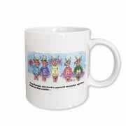 Kevin Edler Cartoon about Rudolphs Troubles for Christmas Mug