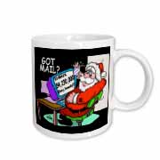 Ira Monroe about Santas E-Mail for Christmas Mug
