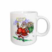 VAL Cartoon about Gift Card Giving for Christmas Mug