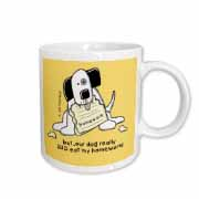 Dog Ate Homework, Cartoon Dogs, Dogs, Dog, Funny Dogs, Puppies. Pets, Funny Pets Mug
