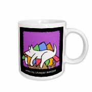 Laundry Monitor, Cartoon Dogs, Dogs, Dog, Funny Dogs, Puppies. Pets, Funny Pets, Animals Mug