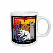 Dog Bed, Cartoon Dogs, Dogs, Dog, Funny Dogs, Puppies. Pets, Funny Pets, Animals Mug