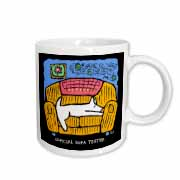Dog Duty Sofa Tester, Cartoon Dogs, Dogs, Dog, Funny Dogs, Puppies, Pets, Funny Pets Mug