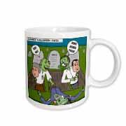 Halloween - Zombie Practical Jokes - Clinton and Nixon Masks Mug